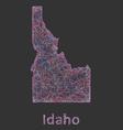 Idaho line art map vector image vector image