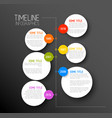 infographic dark timeline report template vector image vector image