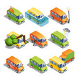 isometric car insurance set vector image vector image