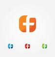 letter f app style logo vector image