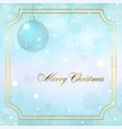 merry christmas decoration background 3d blue vector image vector image