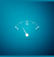 motor gas gauge icon isolated on blue background vector image vector image