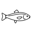 ocean fish icon outline style vector image vector image