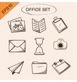 Office stationery symbols set vector image vector image
