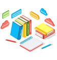 online education isometric icons composition with vector image
