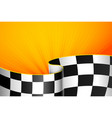 orange racing background vector image vector image