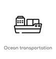 outline ocean transportation icon isolated black vector image vector image