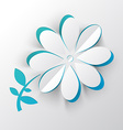 Paper Cut Flower vector image vector image