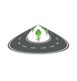 perspective rounded road concept vector image vector image