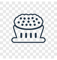 pie concept linear icon isolated on transparent vector image
