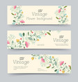 retro flower vertical banners concept vector image vector image