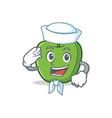sailor green apple character cartoon vector image vector image