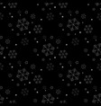 seamless navy black background with snowflakes vector image vector image