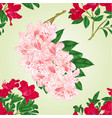 seamless texture rhododendrons twigs vector image vector image