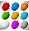 set 3d button backgrounds 9 different colors vector image