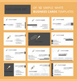set of 12 sword creative busienss card template vector image vector image