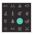 set of sea food elements can be used as logo vector image
