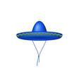 sombrero hat in blue design vector image vector image