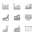 statistic icons vector image vector image