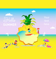 summer holiday on background pineapple vector image vector image