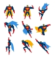 Superman Poses Set vector image