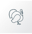 turkey icon line symbol premium quality isolated vector image