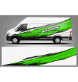 van wrap design wrap vector image