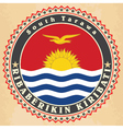 Vintage label cards of Kiribati flag vector image vector image