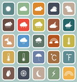 Weather flat icons on blue background vector image vector image