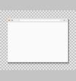 web browser window computer or internet frame vector image vector image