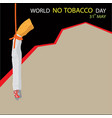 world no tobacco day background with copy space vector image vector image