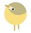 yellow bird cartoon flat vector image vector image