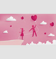 young couple falling in love vector image vector image