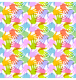 Seamless Pattern Print of Hands vector image
