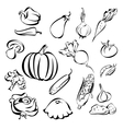 vegetables icon set sketch vector image