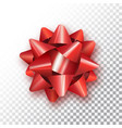 red bow for packing gifts realistic vector image