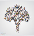 large tree formed out of people vector image