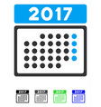 2017 month calendar flat icon vector image vector image
