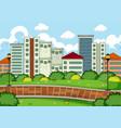 a simple park landscape vector image vector image