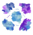 abstract hand drawn watercolor blots background vector image vector image