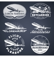 air badges white vector image vector image