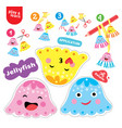 application jellyfish kid game printable worksheet vector image vector image