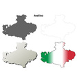 Avellino blank detailed outline map set vector image vector image