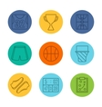 Basketball equipment icons vector image vector image