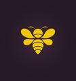 Bee logo vector image vector image