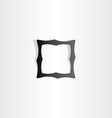 black empty frame icon vector image
