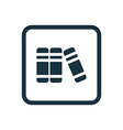 books icon Rounded squares button vector image