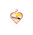 brunei country flag inside love heart creative vector image