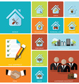 Business And Real Estate Flat Icon Set vector image vector image