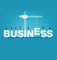 business finance and industry concept business vector image
